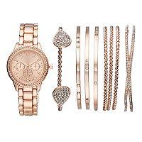 Women's Crystal Watch & Bracelet Set