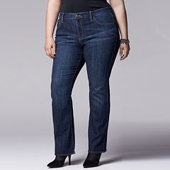Plus Size Simply Vera Vera Wang Modern Fit Bootcut Jeans