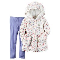 Toddler Girl Carter's Floral French Terry Hoodie & Solid Leggings Set