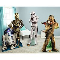 Star Wars Chewbacca, Stormtrooper, R2D2 & C3PO Standup Set