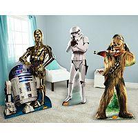 Star Wars Chewbacca, Stormtrooper, R2D2 & C3PO Standup Set