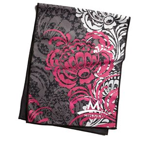 Mission EnduraCool Peony Black Magenta Microfiber Towel