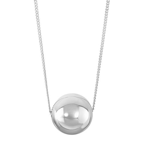 Sterling silver ball pendant necklace aloadofball Images
