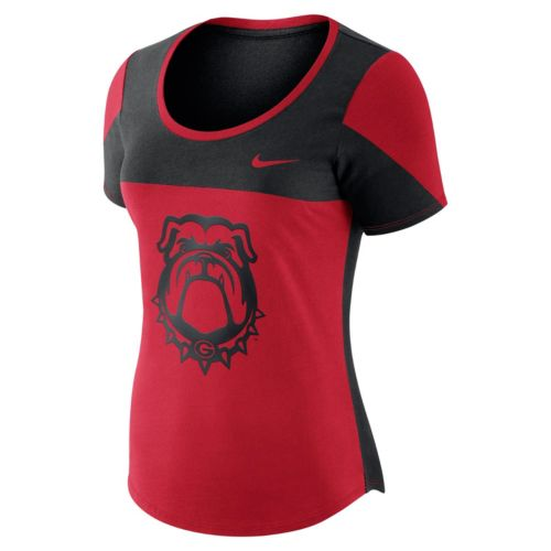 Women's Nike Georgia Bulldogs Enzyme-Washed Colorblock Tee