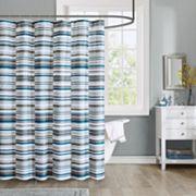 Intelligent Design Wyatt Microfiber Printed Shower Curtain