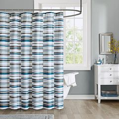 Intelligent Design Wyatt Microfiber Printed Shower Curtain