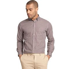 Big & Tall Van Heusen Checker Classic-Fit Button-Down Shirt