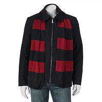 Men's IZOD Wool Jacket & Scarf Set