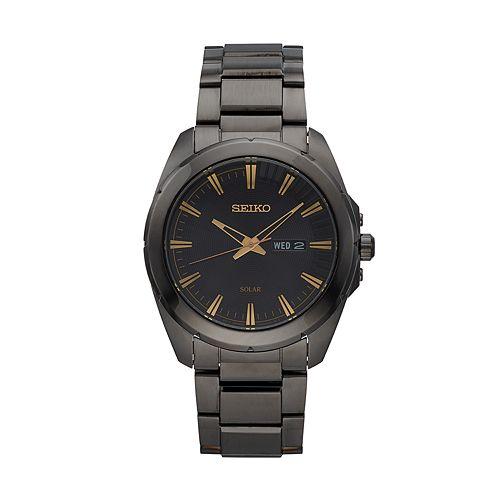 Seiko Men's Recraft Stainless Steel Solar Watch