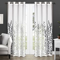 Exclusive Home 2-pack Wilshire Burnout Sheer Window Curtain - 54'' x 84''