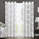 Exclusive Home 2-pack Rio Burnout Sheer Window Curtain - 54'' x 84''