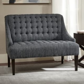 Madison Park Bernay Button Tufted Settee Loveseat