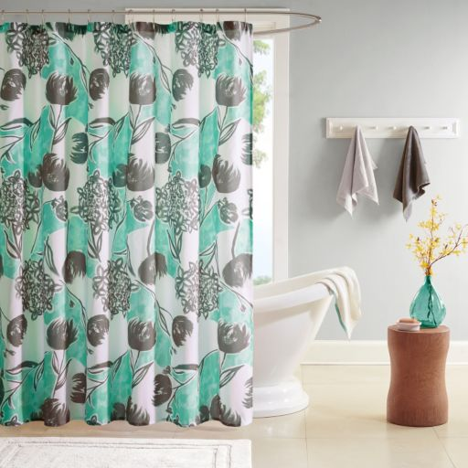 Intelligent Design Lily Microfiber Printed Shower Curtain