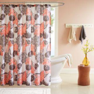 Intelligent Design Lily Microfiber Printed Shower Curtain