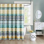 Intelligent Design Celeste Microfiber Printed Shower Curtain