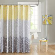 Intelligent Design Kennedy Microfiber Printed Shower Curtain
