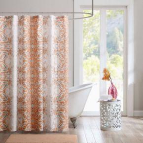 Intelligent Design Raina Microfiber Printed Shower Curtain