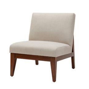 Madison Park Adria Slant Back Wood Accent Chair
