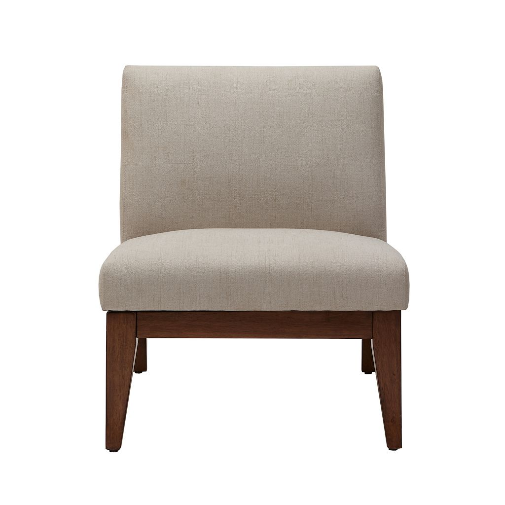 Madison Park Adria Slant Back Wood Accent Chair