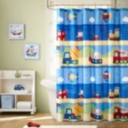 Mi Zone Kids Truck Zone Printed Shower Curtain