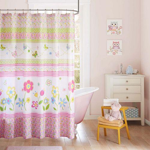 Mi Zone Kids Flower Power Printed Shower Curtain