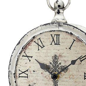 Stonebriar Collection Faith Round Table Clock