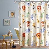 Mi Zone Kids Jungle Josh Printed Shower Curtain