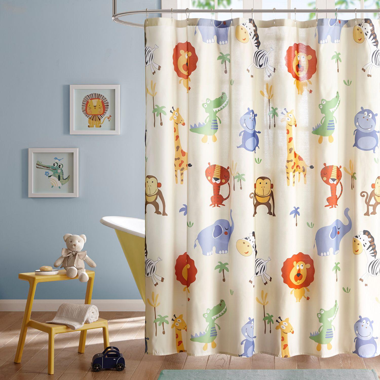 mi zone kids jungle josh printed shower curtain