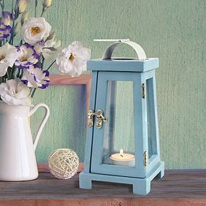 Stonebriar Collection Vintage Wood Candle Lantern