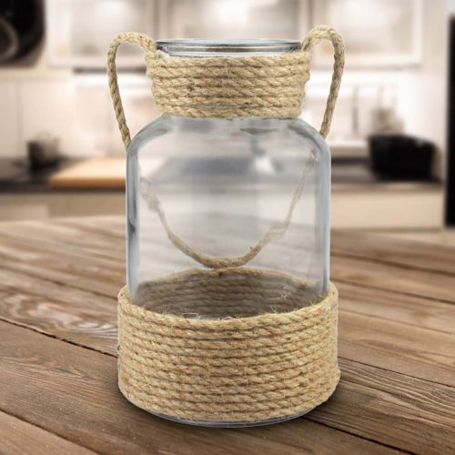 Stonebriar Collection Glass & Rope Table Decor