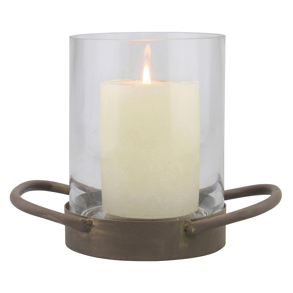 Stonebriar Collection Small Weathered Hurricane Candle Holder
