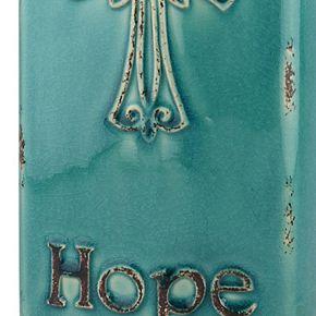 """Stonebriar Collection Vintage """"Hope"""" Vase"""