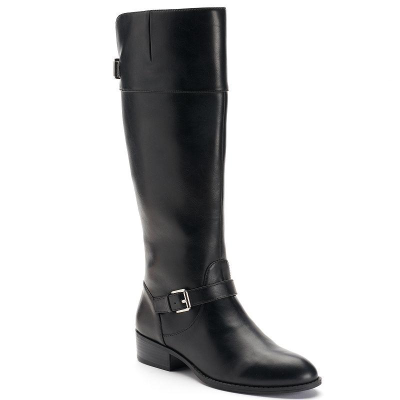 Chaps Gen Women's Buckle Tall Riding Boots