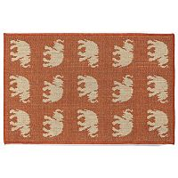 Trans Ocean Imports Liora Manne Terrace Elephants Indoor Outdoor Rug
