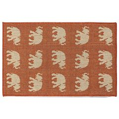 Liora Manne Terrace Elephants Indoor Outdoor Rug