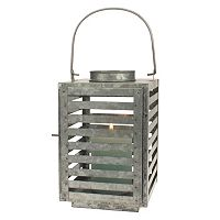 Stonebriar Collection Galvanized Metal Slated Lantern