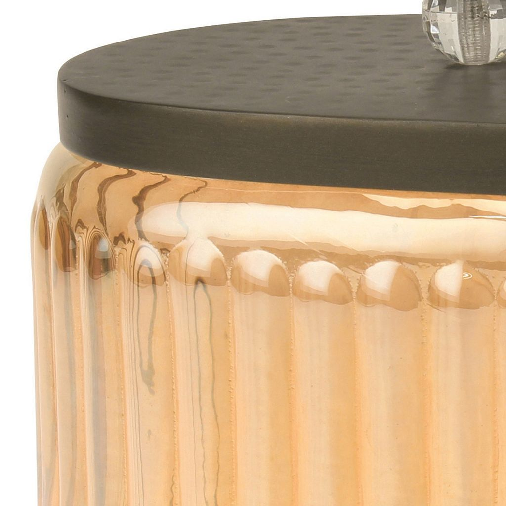 Stonebriar Collection Amber Glass Canister Table Decor