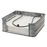 Stonebriar Collection Antique Galvanized Metal Napkin Holder
