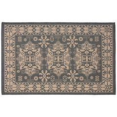 Trans Ocean Imports Liora Manne Terrace Kilim Framed Ornate Indoor Outdoor Rug