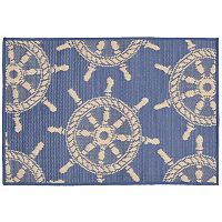 Trans Ocean Imports Liora Manne Terrace Ship Wheel Indoor Outdoor Rug