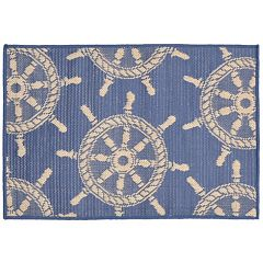 Liora Manne Terrace Ship Wheel Indoor Outdoor Rug