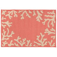 Liora Manne Terrace Coral Border Indoor Outdoor Rug