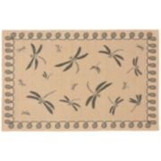 Liora Manne Terrace Dragonfly Indoor Outdoor Rug