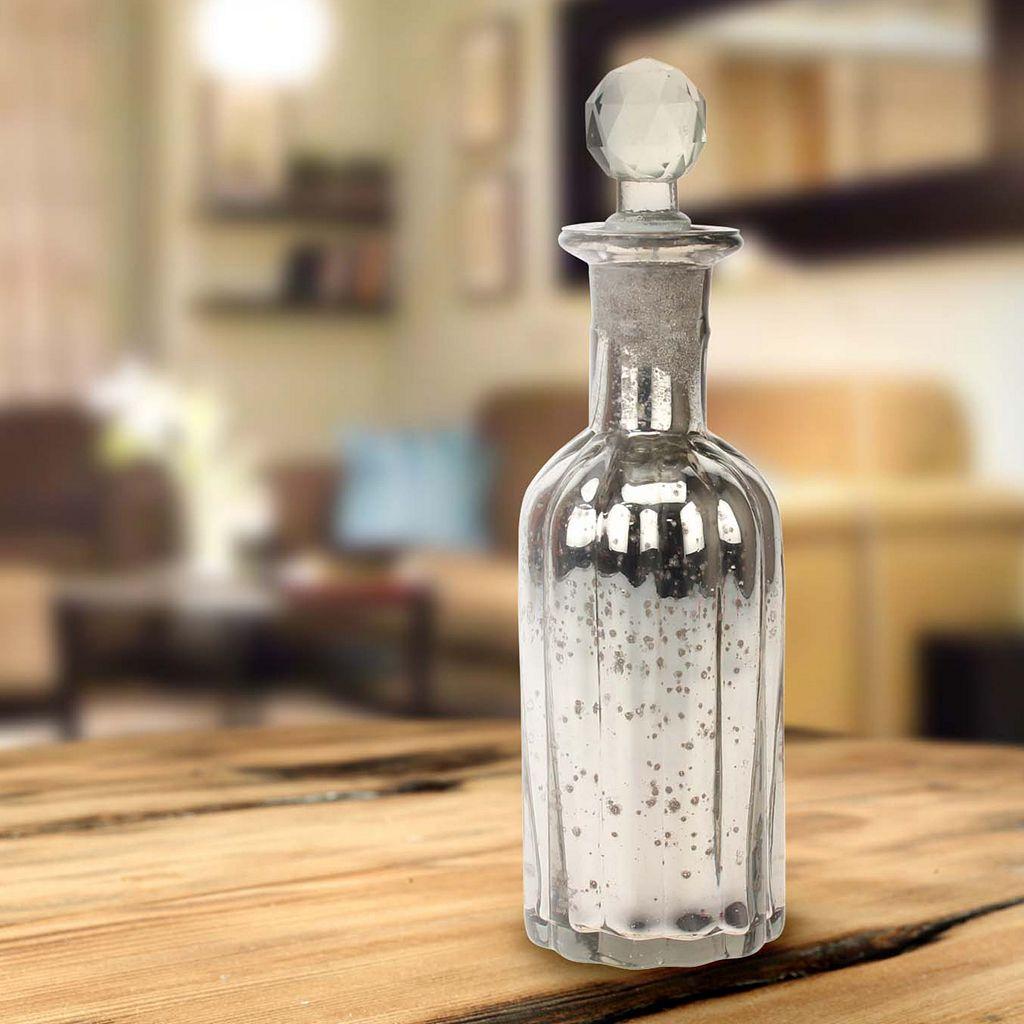 Stonebriar Collection Antique Mercury Glass Bottle Table Decor