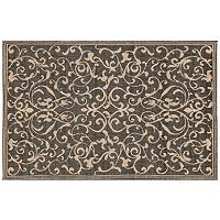 Trans Ocean Imports Liora Manne Terrace Scroll Vine Indoor Outdoor Rug