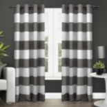 Exclusive Home 2-pack Surfside Cotton Cabana Stripe Window Curtains