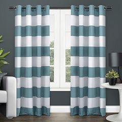 Exclusive Home 2-pack Surfside Cabana Stripe Cotton Window Curtains