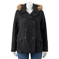 Juniors' Plus Size Urban Republic Wool Blend Jacket