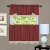 Achim 3 pc Darcy Tier & Valance Kitchen Window Curtain Set