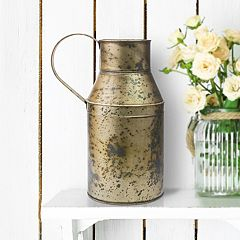 Stonebriar Collection Weathered Oil Can Table Decor